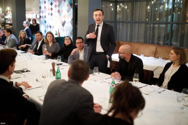 Politischer Salon von MSL mit Paul Ziemiak am 12.02.20 in Berlin in der Schnitzelei MItte. / Foto: Tobias Koch (www.tobiaskoch.net)